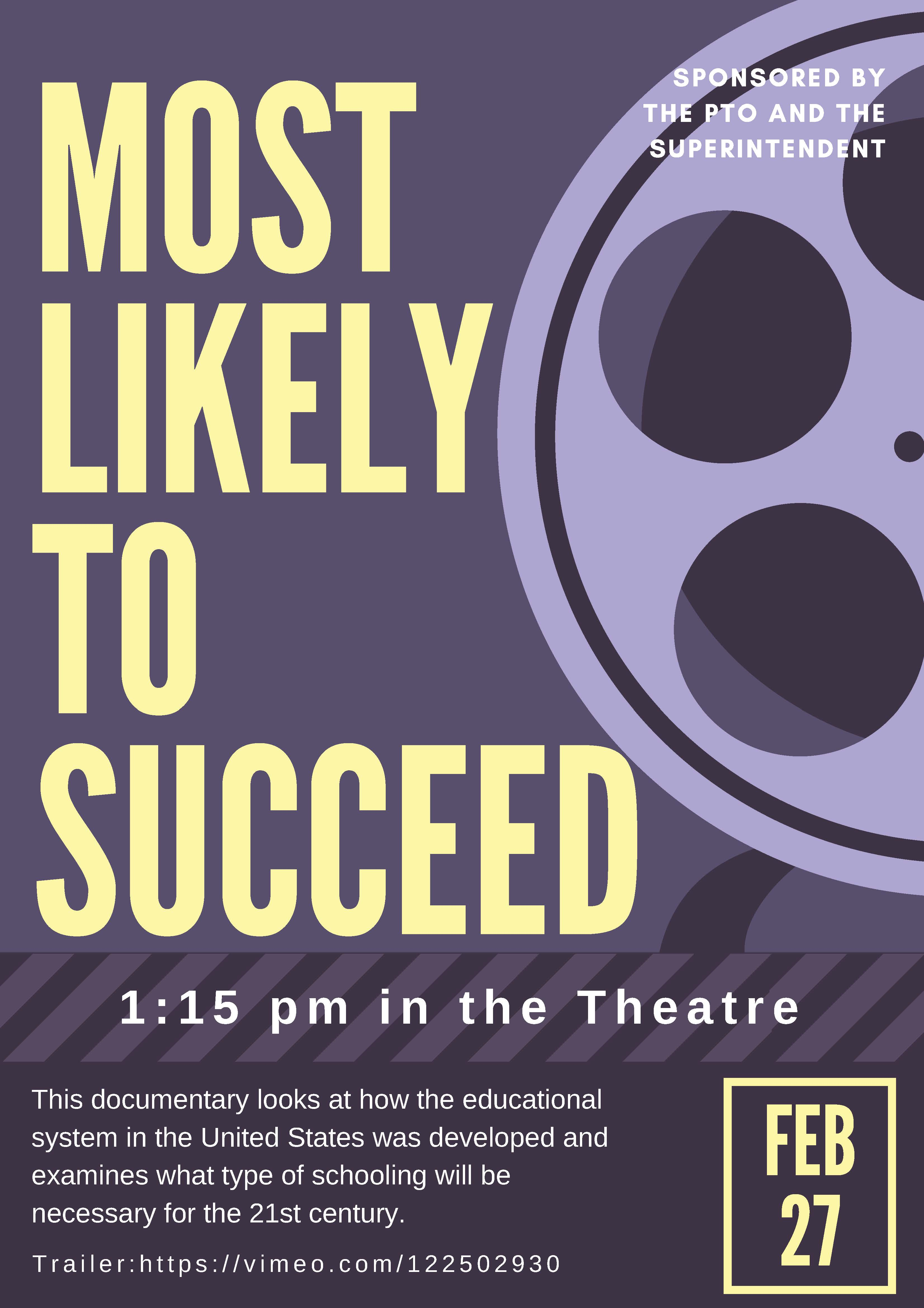 Most likely to succeed Poster