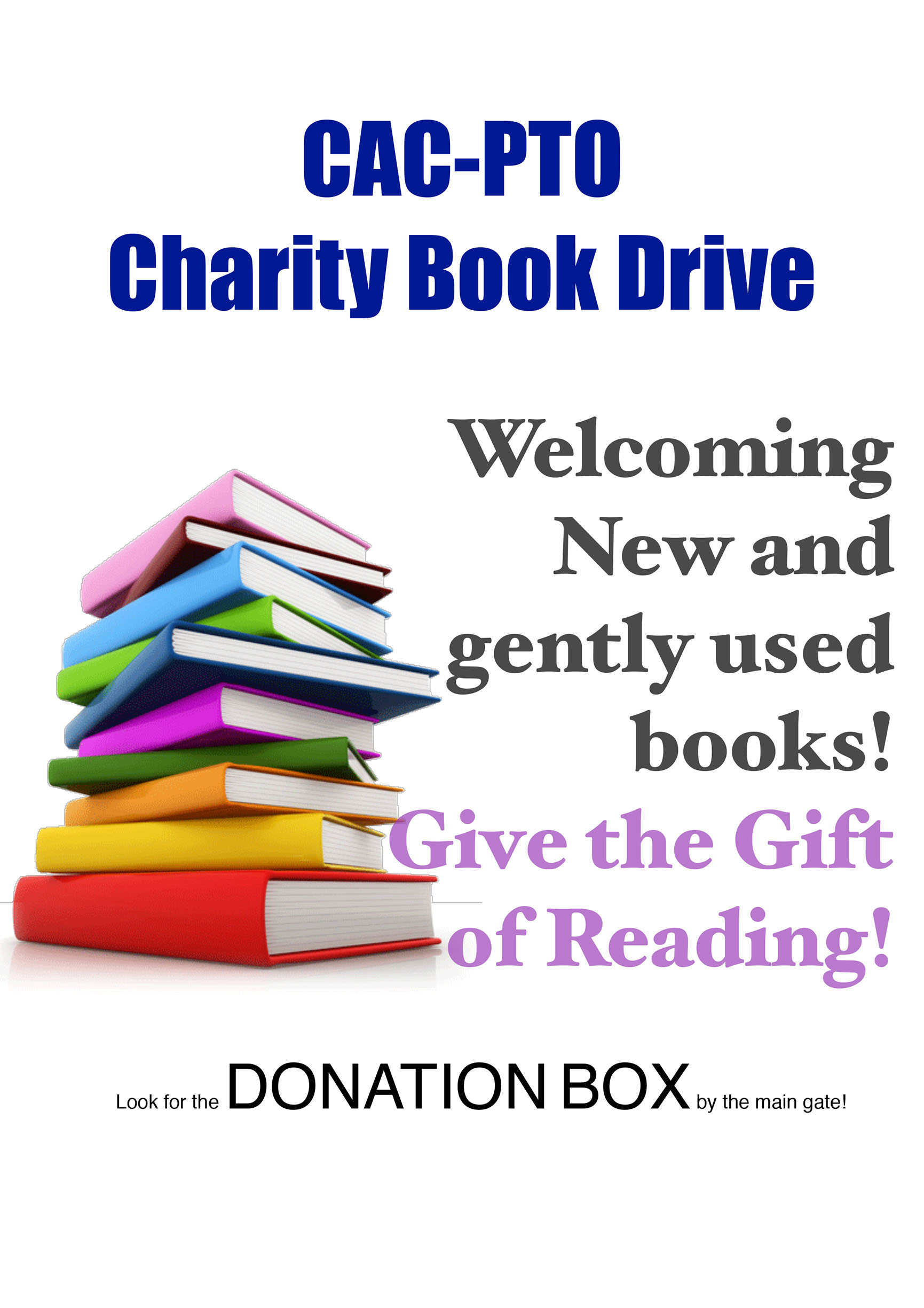 PTO Charity Book Drive 1 80p