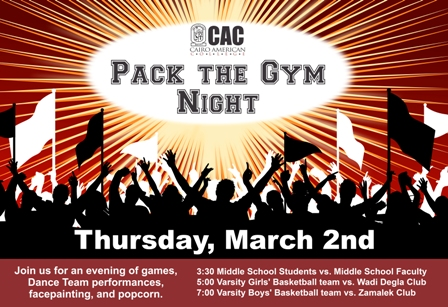 Pack the Gym Night 2015 poster